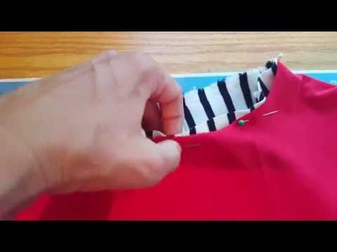 Sewing a neck band to a tee or tee shirt dress