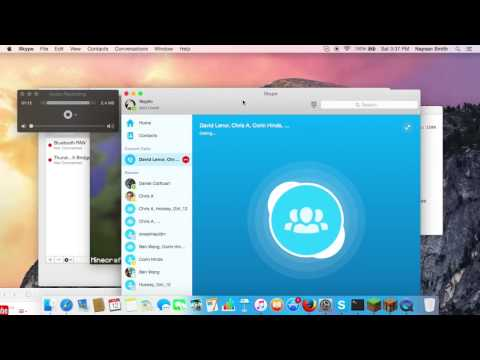 how to make a group call on Skype on macbook air
