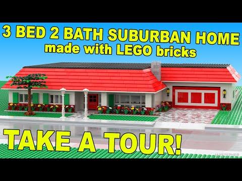 Three Bedroom Two Bath LEGO Suburban Home CUSTOM BUILD MOC
