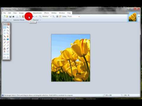 Edit image dimensions for your website using paint.net