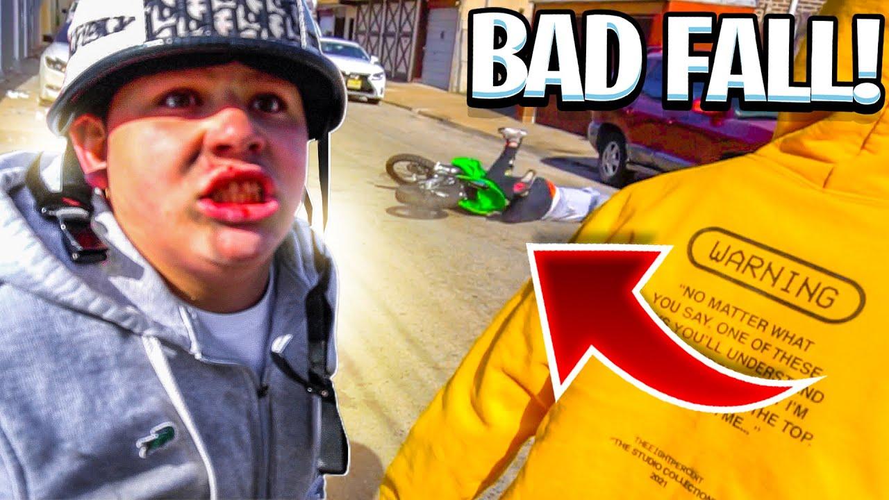 LITTLE BROTHER FALLS OFF HIS NEW DIRT BIKE BAD ! ( HOSPITAL ) | BRAAP VLOGS