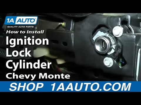 How To Install Replace Ignition Lock Cylinder 2000-05 Chevy Monte Carlo