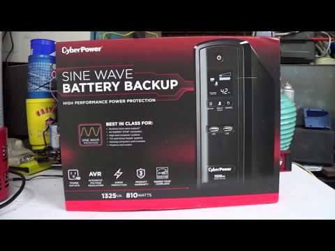 Product Review: CyberPower GX1325U True Sine Wave Uninterruptible Power Supply (UPS)