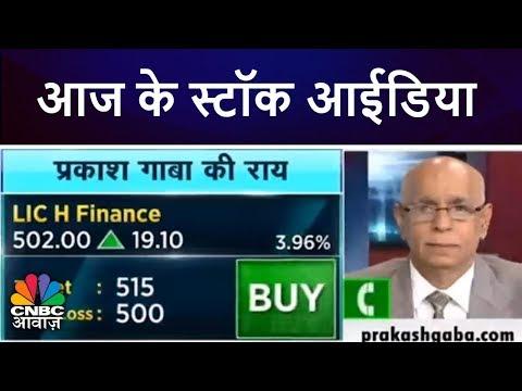 आज के स्टॉक आईडिया   प्रकाश गाबा की राय   Prakash Gaba's Stock Picks