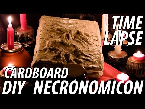 Full Time Lapse of The Evil Dead Necronomicon Diy Cardboard Project