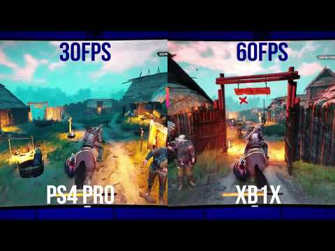 Witcher 3 Xbox one x vs PS4 PRO Framerate test and comparison