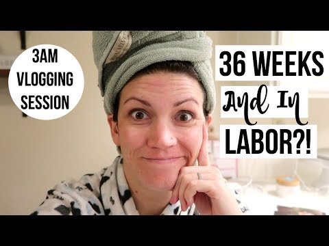 DAY IN THE LIFE- IN LABOR AT 36 WEEKS?! //  Packing My Hospital Bag Fast