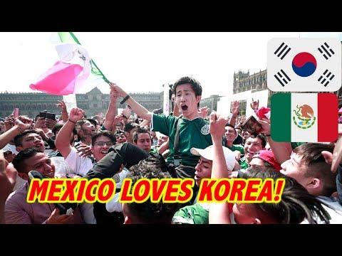 MEXICO LOVES SOUTH KOREA!MEXICO FANS REACT TO SOUTH KOREA GERMANY LIVE!