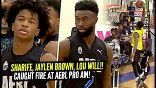 Sharife Cooper & Jaylen Brown vs Lou Williams at AEBL Pro AM!!! Sharife GETS SHIFTY!! Jaylen POSTER!