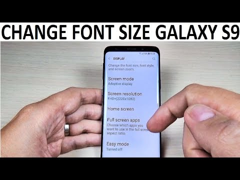 How to CHANGE FONT SIZE on Samsung Galaxy S9