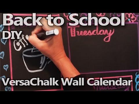 Get Organized for Back to School | DIY Wall Calendar / Weekly Planner | Timelapse - VersaChalk