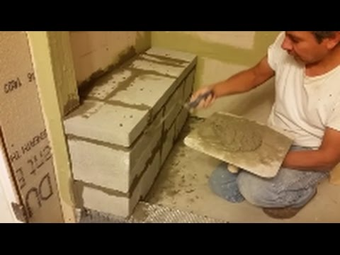How To Build A Shower Bench - Step by Step - D.I.Y