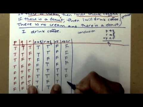 Truth Table to determine if an argument is valid