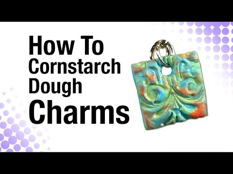 How To Tacky Glue Cornstarch Dough Charms