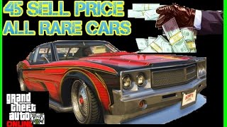 gta 5 rare cars to sell