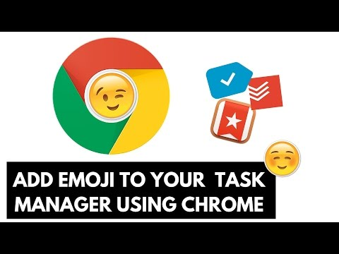 Adding Emoji to your Task Manager on Chrome