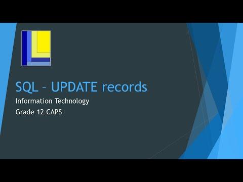 SQL Update