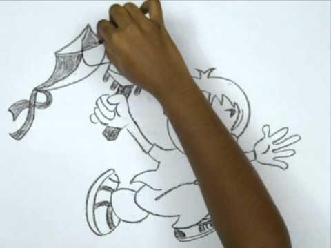 How To Draw A Cartoon Kite Drawing Art Kit E
