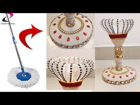 Waste Material Crafts idea I DIY arts & crafts I Reuse broken Mop I Creative Diaries