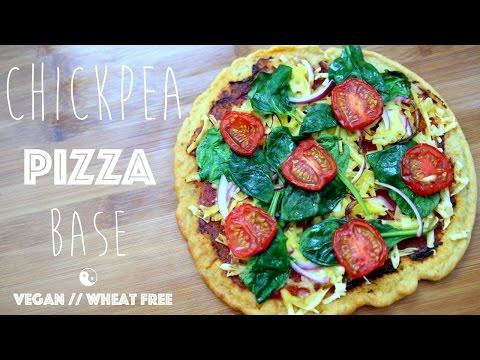 Chickpea Pizza Base // Vegan // Wheat free