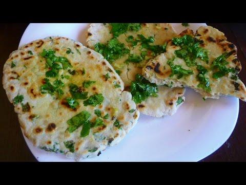 Garlic Cilantro Flatbread (No yeast, dairy, gluten, oil-free opt)  AV Show 17