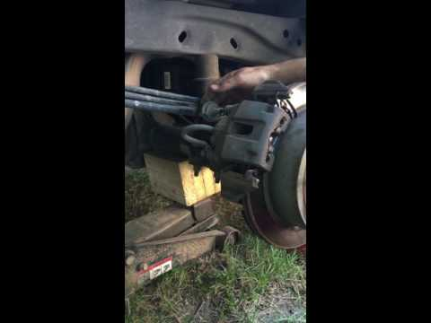 How to replace 2010 Ford-F150 rear brakes