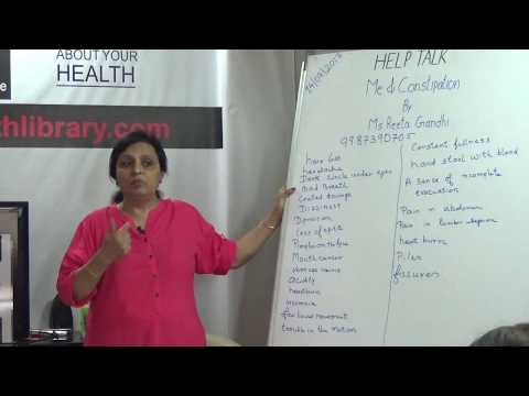 Me and Constipation By Ms. Rita Gandhi HELP Talks Video