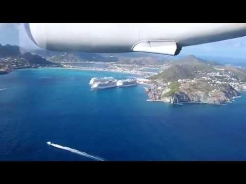 Winair Full Flight St Barth to St Maarten