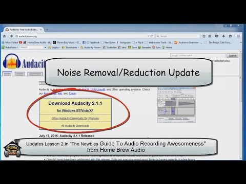 Noise Reduction for Audacity Version 2.1