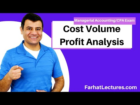 Cost Volume Profit Analysis | Managerial Accounting | CMA Exam | Ch 5 P 1
