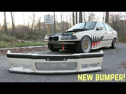M3 BUMPER FINALLY! : BMW E36 325i Drift Build Ep.12