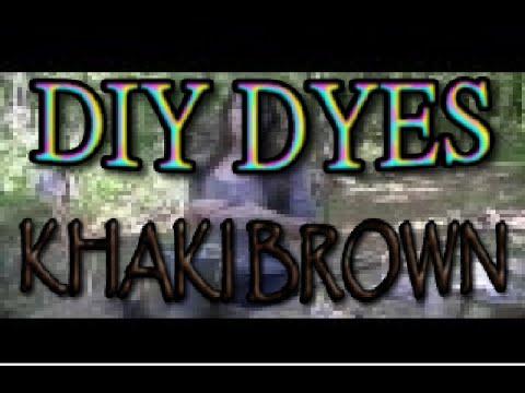 Natural Autumn Dyes - Khaki Brown