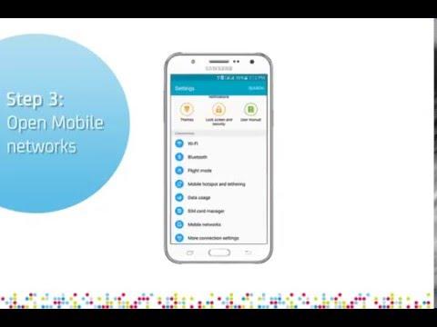 Samsung Galaxy J7: Turn on/off data roaming