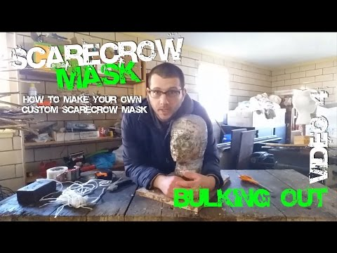 4 Bulking Out How to make your Own Custom Scarecrow MASK from Batman
