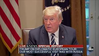 Trump discusses his summit with Russian Pres. Putin amid backlash | ABC News