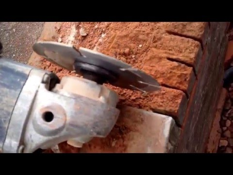cutting Bricks. Mini grinder. spectrum diamond blade part 2