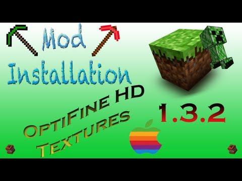  OptiFine Minecraft Mac (HD Texture Packs)  (1.3.2) Review/ Installation Tutorial