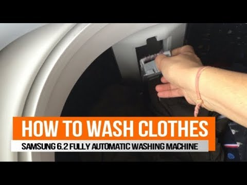 How to Wash Clothes in Fully Automatic Washing Machine   Samsung 6.2 kg Top Load