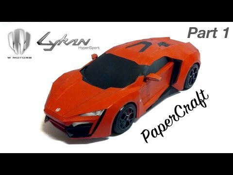 Lykan HyperSport PaperCraft build video - Part 1