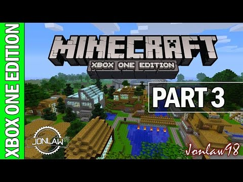 Minecraft Xbox One Walkthrough - Part 3 Hard Survival Multiplayer Gameplay