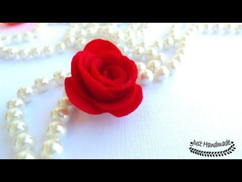 ~JustHandmade~ DIY felt flowers - rose with petals - Part 2