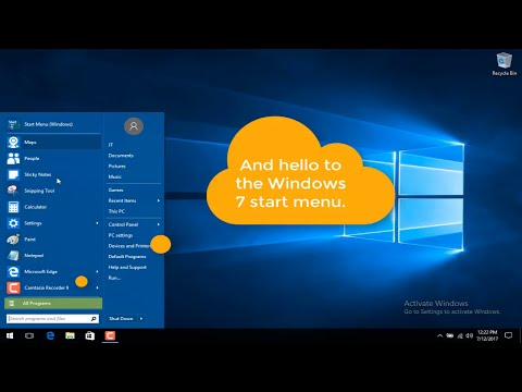 Restore Windows 7 Start Menu To Windows 10 Using Classic Shell