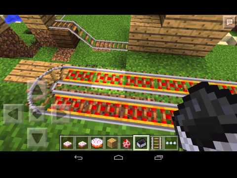 Getting minecarts stuck in corners in Minecraft PE 0.8.0