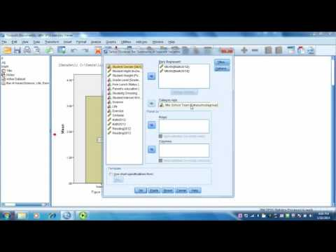 Week 5: How to Create Bar and Line Charts With Multiple Varaibles in SPSS