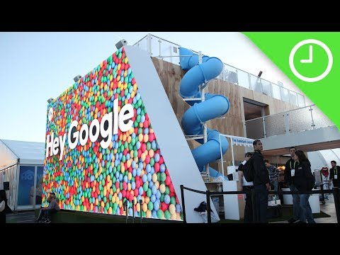 Checking out Google's crazy CES 2018 booth