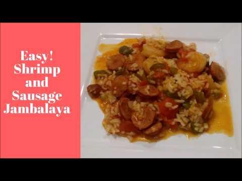 Easy Cajun Shrimp and Sausage  Jambalaya