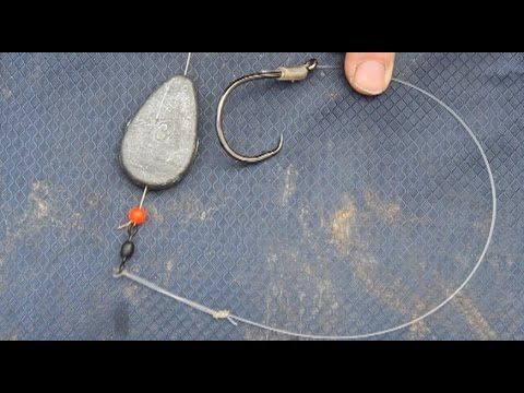 Catfish Rig - What hook, sinker, tackle and leader to use to catch catfish