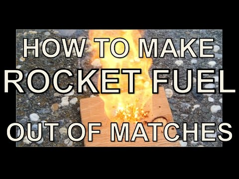 How to Make ROCKET FUEL out of MATCHES