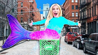 I Became a MERMAID in Public For A Day! (WORST Game Master 24 Hour Challenge) | Rebecca Zamolo