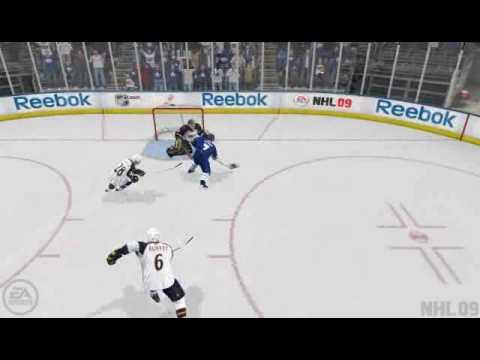 NHL 09 break-away win